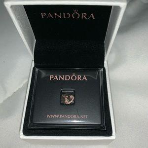 Pandora double heart mini charm